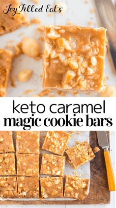 White chocolate chips, macadamia nuts, and caramel star in these fantastic cookies. You are in for a treat! Low Carb Deserts, Low Carb Sweets, Healthy Sweets, Bon Dessert, Dessert Recipes, Bar Recipes, Cookbook Recipes, Sweet Recipes, Cookie Recipes
