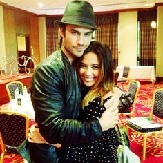 Ian Somerhalder and Malese Jow Serie Vampire Diaries, Vampire Diaries The Originals, Malese Jow, The Salvatore Brothers, Vampire Bites, Star Wars, Daniel Gillies, Ian Somerhalder, Delena