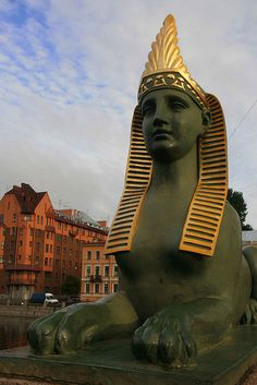 The Egyptian Bridge in St. Petersburg is a monument to early 19th-century Egyptomania. The original bridge collapsed in 1905. The present structure, incorporating sphinxes and several other details from the 19th-century bridge, was completed in 1955.