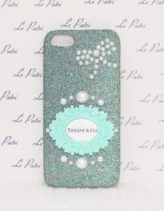 Aqua Glitter Designer Inspired Bling Case Phone Cover by LePatri