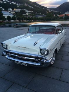 Old School Muscle Cars, Pallet Chest, 1957 Chevrolet, Dream Garage, Bel Air, Jukebox, Badass, Chevy, Classic Cars