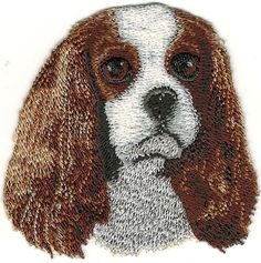 """2 1//8/""""x3 5//8/"""" Red Ears Up Doberman Dog Breed Portrait Embroidery Patch"""