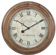 The Rotterdam clock was historically inspired as Steve Kowalski designed this beautiful wall clock. Made of Natural Wood with a glass lens.