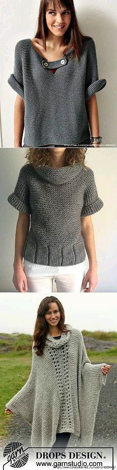 Ideas For Fashion Chic Style Classy Blouses Sweater Knitting Patterns, Knitting Designs, Knit Patterns, Tricot D'art, Pulls, Knitwear, Knit Crochet, Sweaters, Clothes