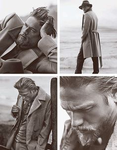 Charlie Hunnam, this man is fine regardless of what he has on! I could get use to this look..
