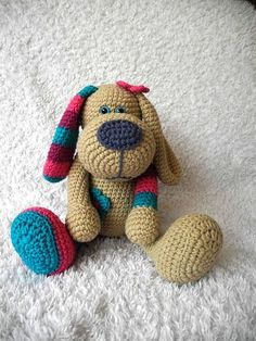 Instruções para Crochet Dog (Dog Miss) Crochet Toys Patterns, Crochet Dolls, Yarn Projects, Crochet Projects, Crochet Unicorn, Blanket Yarn, Stuffed Animal Patterns, Crochet For Kids, Amigurumi Doll