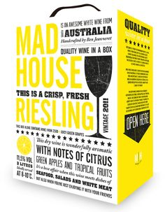 Packagingdesign for Mad House Riesling Bag-in-Box by Lina Kallijärvi Gutung