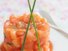 Tartare de tomate et melon, facile et pas cher