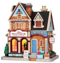Lulu's Boutique. Lemax. Christmas village.
