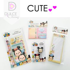Cute Supplies, Disney Stationary Set, Sticky Notes, Magnetic List Pad &… >> buy at my Etsy shop by DulceLiving.com