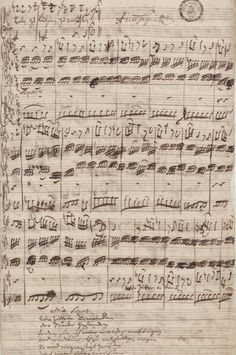 "Bach's manuscript for the aria ""Wie zittern und wanken"" from the cantata BWV 105."