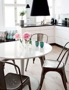 Love these Tolix Chairs on Desire to Inspire? Check out our Roxie Chair!