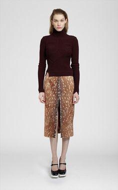 Carven 'Bambi' Print Skirt