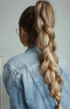 School hairstyle: high 3 strand braid, neat and cute this style is SO school ready and efficient + totally cute.
