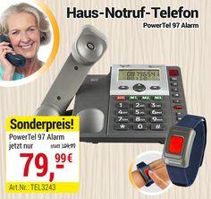 Aktuell aus unserer Werbung:  Das PowerTEL97 Alarm ist ein Haus-Notruf-Telefon ohne monatliche Kosten! Für mehr Sicherheit in Deinem Alltag. Jetzt 30 Tage lang testen mit Geld-Zurück-Garantie