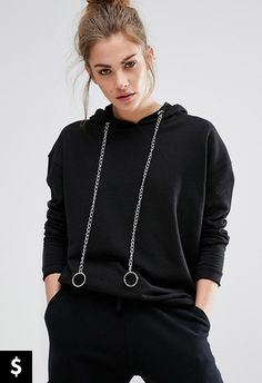 The chain deets on this hoodie are a game-changer. Just enough decoration to jazz up your look but low-key enough to still look chill. Better yet, it won't break the bank