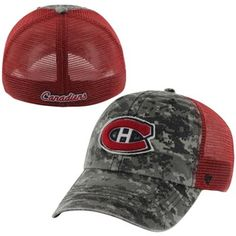Mens Montreal Canadiens '47 Brand Red/Digital Camo Fortress Flex Hat