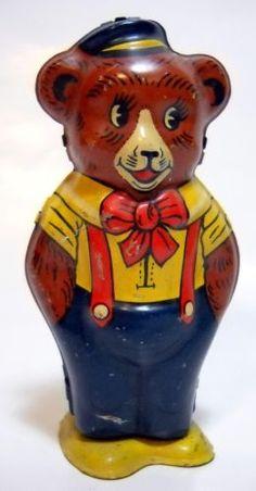 juguetes antiguos,vintage,tin toys oso