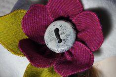 poppy brooch felted tweed hat beret pin pink purple boho wool tweed pin brooch OOAK handmade corsage jacket poppy flower 12 cm new lagenlook by edgeofthesand on Etsy Beret, Hat, Brooches Handmade, Handmade Gifts, Poppy Brooches, Wool Cape, Corsage, Brooch Pin, Pink Purple