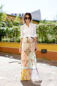 printed skirt for the summer