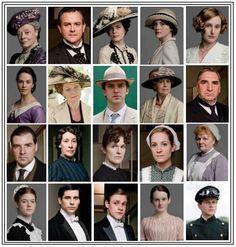 Everyone at Downton Abbey!