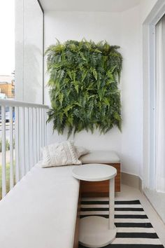 apartment balcony garden Balcony Green Wall Ideas: Vertical Living Wall - Unique Balcony & Garden Decoration and Easy DIY Ideas Decor, Living Wall, Interior, Home, Outdoor Spaces, Apartment Terrace, Cool Apartments, Rustic Outdoor Decor, Apartment Balcony Decorating