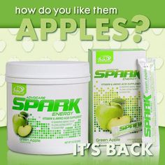 AdvoCare Green Apple Spark is back! Long lasting energy and mental focus... YES PLEASE! #spark #advocarespark