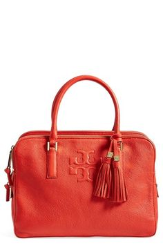 Got this in Tan in Anchorage. What a great bag. Tory Burch 'Thea' Satchel available at #Nordstrom