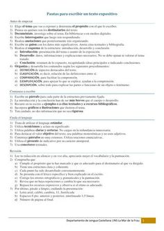 ISSUU - Pautas para escribir un texto exposivito by Isabel Castro