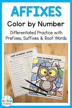 Get your students excited to review prefixes, suffixes, and root words with this affixes color-by-number activity! TWO differentiated versions!