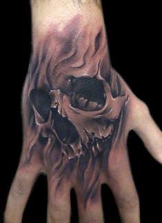 Skull Tattoo on hand - 60 Awesome Skull Tattoo Designs <3 <3