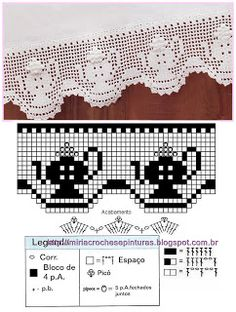 Häkeln Borte Spitze Breit - crochet border MIRIA CROCHÊS E PINTURAS  ☂ᙓᖇᗴᔕᗩ ᖇᙓᔕ☂ᙓᘐᘎᓮ http://www.pinterest.com/teretegui