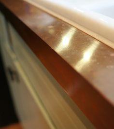 Remodelaholic   Copper Countertops Tutorial; Kitchen Renovation Idea