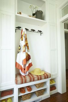 mud room with shoe storage