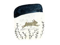 Art print - Run Rabbit - digital print - A4