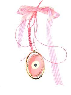 Πανέμορφο κρεμαστό γούρι-φυλαχτό για κορίτσι.  Ιδανικό δώρο για νεογέννητο & βάπτιση. Washer Necklace, Jewelry, Jewellery Making, Jewerly, Jewelery, Jewels, Jewlery, Fine Jewelry, Accessories