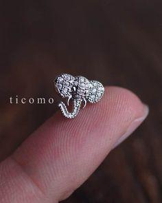 Knorpel-Ohrring 16g Helix Ohrring Helix piercing Knorpel piercing Tragus Ohrring Tragus-piercing, Conch piercing Elefant