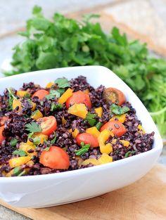 Cherry Tomato and Forbidden Rice Salad Recipe {vegan, gluten-free, low FODMAP} Vegetarian Cooking