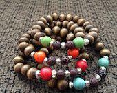 Kid's lava rock gemstone essential oil diffuser bracelets