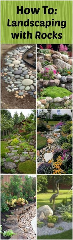 Rocks and stones add a NATURAL appeal to a landscape, including them in your garden can make it look wonderful. Take a look at these ideas for inspiration! #LandscapingArt