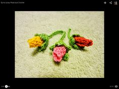 Rose bud crochet in Russian (I think) but the lady goes slow enough that you can follow   http://youtu.be/8zXwdkCIneo