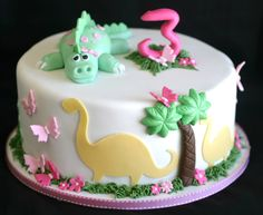 girly dinosaur cake