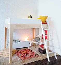 kinderzimmer hochbett design teppich