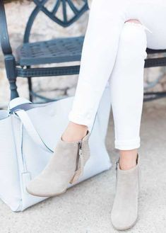 light-beige-ankle-boots
