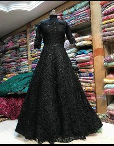 Indian Pakistani Black Wedding Bridal Indo western Gown Embroidery Readymade Designer Anarkali salwar suit kurta With Bottom Ready To Wear Indian Gowns Dresses, Indian Fashion Dresses, Pakistani Dresses, Bridal Dresses, Dress Fashion, Wedding Gowns, Shadi Dresses, Party Wedding, Wedding Stuff
