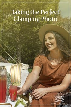 You'll find the best lighting during golden hour, the time when the sun goes down, creating dreamy golden sunlight. Try setting up a tripod with a phone or Go Pro camera and letting it run to capture more organic photos. Pro Camera, Golden Hour, Cool Lighting, Tripod, Gopro, Glamping, Sunlight, Organic, Running