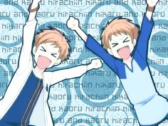 Hikaru and Kaoru haha their so cute and funny! Ouran high school host club, OHSHC