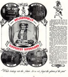 Brochure from Memory Lane Arcade Frankenmuth MI.  penny arcade/amusements/coin operated