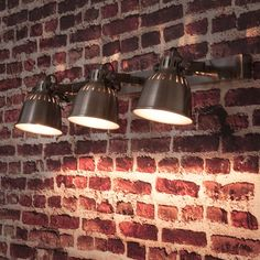 Patinated metal 3 spotlight rail in ...