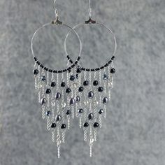 Pinterest the worlds catalog of ideas black pearl big hoop chandelier earrings by annidesignsllc on etsy 1595 aloadofball Choice Image